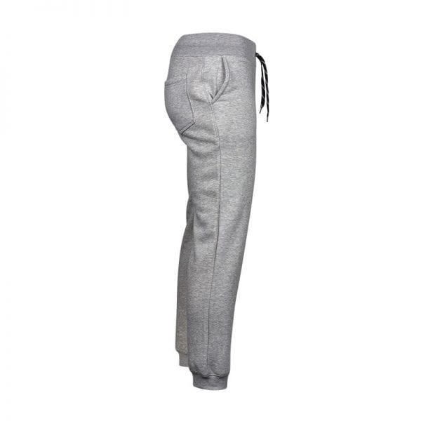 Sweatpants i lys grå udgave med sorte snørrebånds detaljer