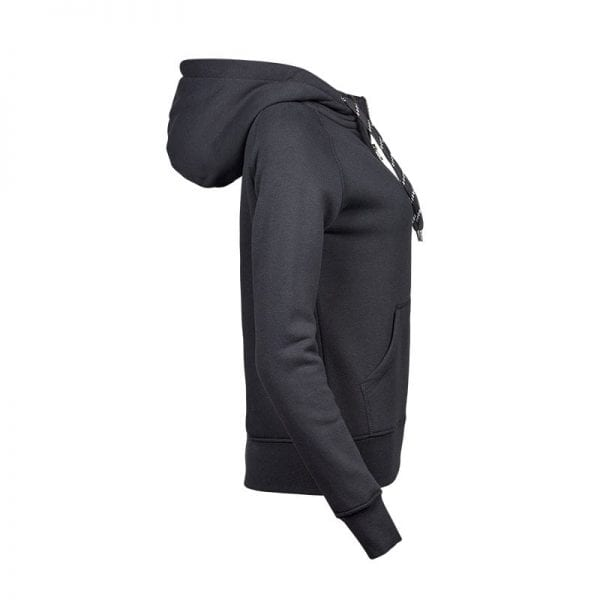 Sweatshirt fra Tee Jays - Hoodie i mørkegrå - set fra siden