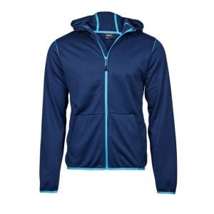 Tee Jays årstids jakke Navy og turkis farvet med fede detaljer