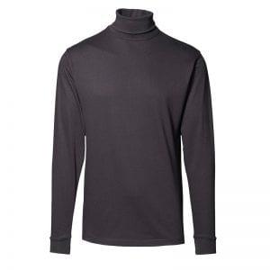 ID T-Time T-Shirt, med rullekrave, mande model, en af de mest populære t-shirt, farve sort. Set fra forfra