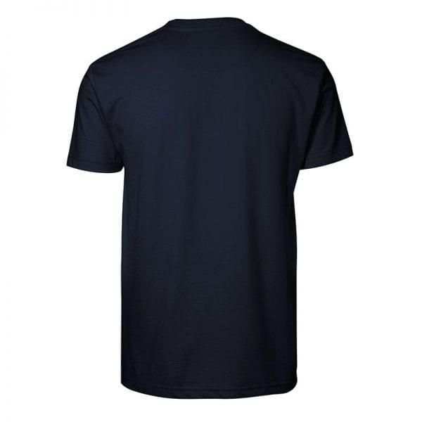ID Pro Wear t-shirt light, slidsstærk t-shirt i metervare, navy farve, mande model, set bagfra