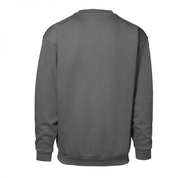 ID Pro Wear sweatshirt, klassisk model, farve silver grey, mande model. set bagfra