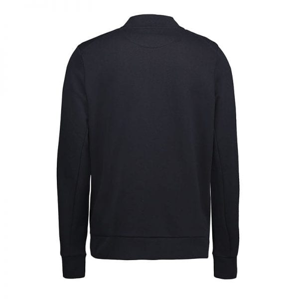 ID Pro Wear cardigan, slidstærk kvalitet, farve navy, mande model, set bagfra