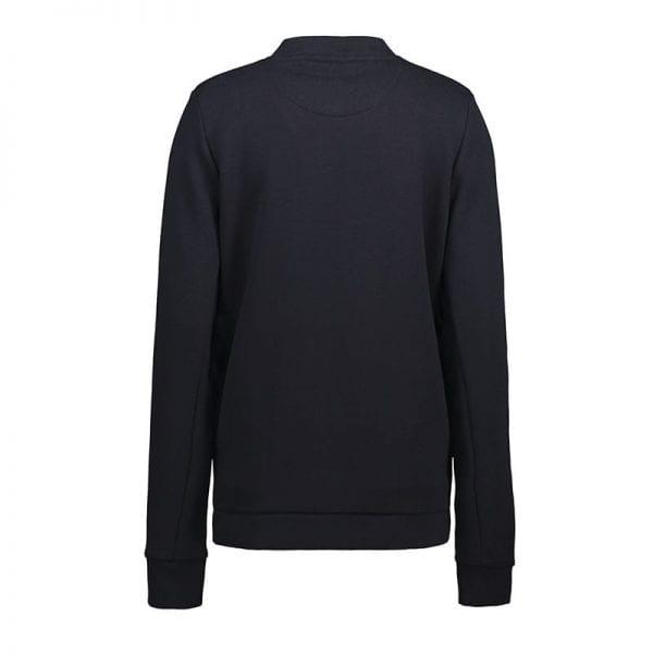 ID Pro Wear cardigan, slidstærk kvalitet, farve navy, dame model. set bagfra