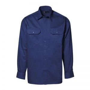 ID Skjorte Arbejdsskjorte i bomuld, Navy model