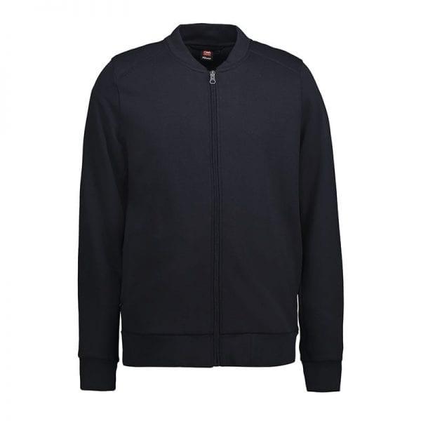 ID Pro Wear cardigan, slidstærk kvalitet, farve navy, mande model. forfra