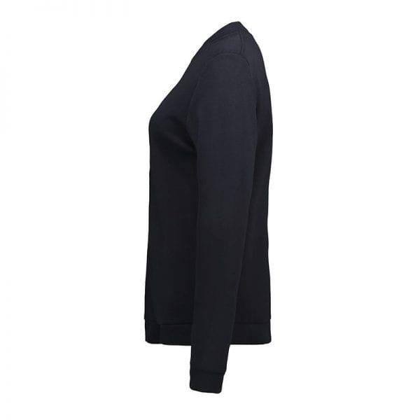 ID Pro Wear cardigan, slidstærk kvalitet, farve navy, dame model, set fra siden