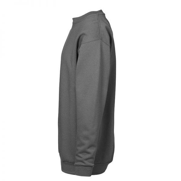 ID Pro Wear sweatshirt, klassisk model, farve hvid silver grey, mande model. Set fra siden
