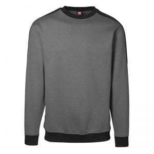 ID Pro Wear sweatshirt, ekstra slidstærk to-farvet, farve silver grey, mande model