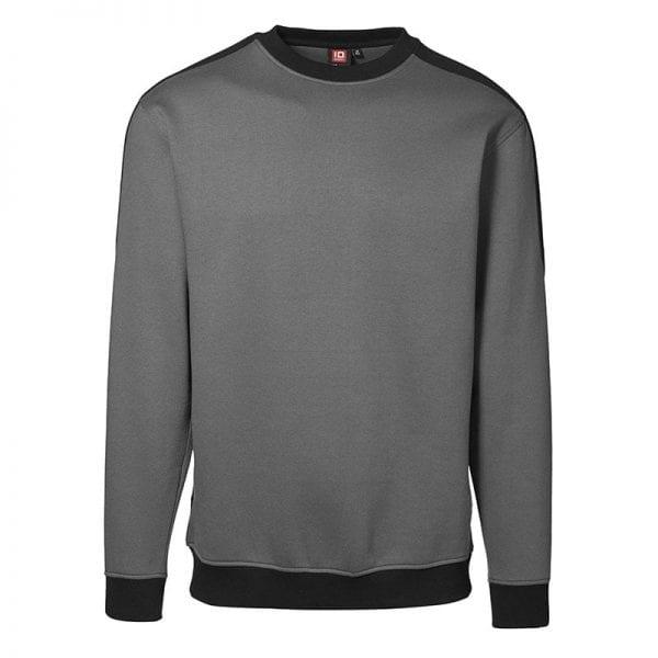 ID Pro Wear sweatshirt, ekstra slidstærk to-farvet, farve silver grey, mande model