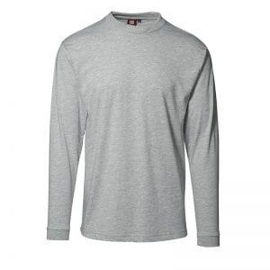 ID Pro Wear t-shirt, slidsstærk langærmet t-shirt, Grå melange farve, mande model