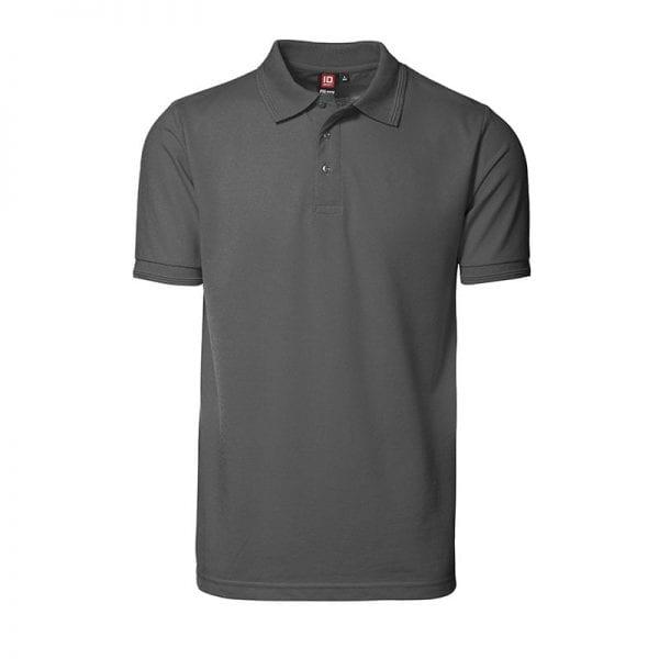 ID Pro Wear poloshirt, kortærmet klassisk polo uden lomme, farve silver grey, mande model