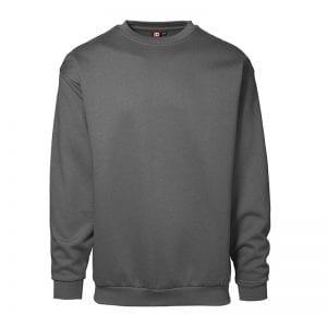 ID Pro Wear sweatshirt, klassisk model, farve hvid silver grey, mande model