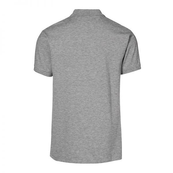ID identity stretch poloshirt i piguékvalitet, mande model, grå melange farve