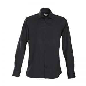 J. Harvest & Frost Green Bow 01, Sort skjorte af lækker kvalitet Slim fit model