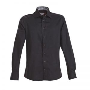 J. Harvest & Frost Red Bow 20, sort skjorte af lækker kvalitet Slim fit model