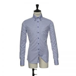 J. Harvest & Frost Red Bow 28, slim fit model detaljebillede sky blue stripes