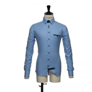 J. Harvest & Frost Purple Bow 41, slimfit model mid blue ternet
