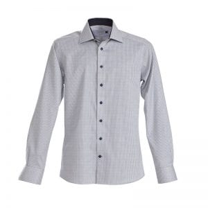 J. Harvest & Frost Red Bow 21, navy skjorte af lækker kvalitet regular model