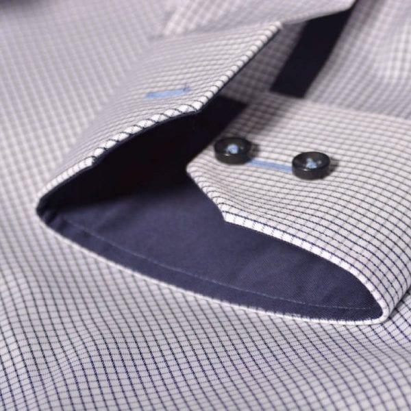 J. Harvest & Frost Red Bow 21, navy skjorte af lækker kvalitet regular model ærme detalje