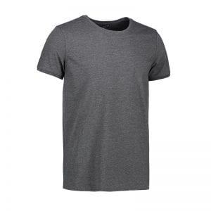 ID t-shirt, fitted t-shirt, Core O-Neck tee, mande model, farve koks melange, set forfra