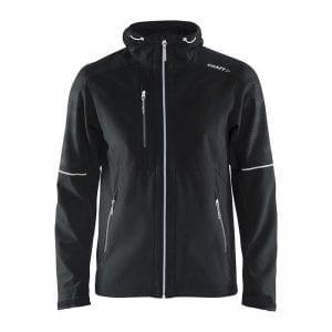 CRAFT Highland Jacket Men, Lækker jakke i god kvalitet med mange fine detaljer. Herremodel i sort med hvide detaljer