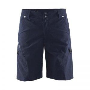 CRAFT In the Zone Shorts Herremodel i navy blå med lynlås detalje over knæet og spænd ind knapper i taljen
