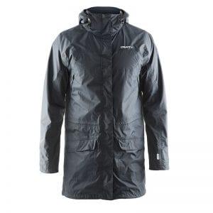 CRAFT Parker Rain Jacket herremodel, grå. Lang regnjakke i lækker kvalitet