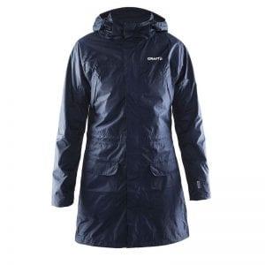 CRAFT Parker Rain Jacket herremodel, grå. Lang regnjakke i lækker kvalitet i navy blå