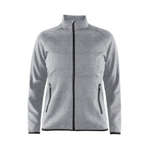 CRAFT Emotion Full Zip Jacket kvindemodel, lækker kvalitets jakke - god som overgangsjakke. Lynlås lommer og lang lynlås på maven. Flexibel og comfortable at have på. Lys grå model