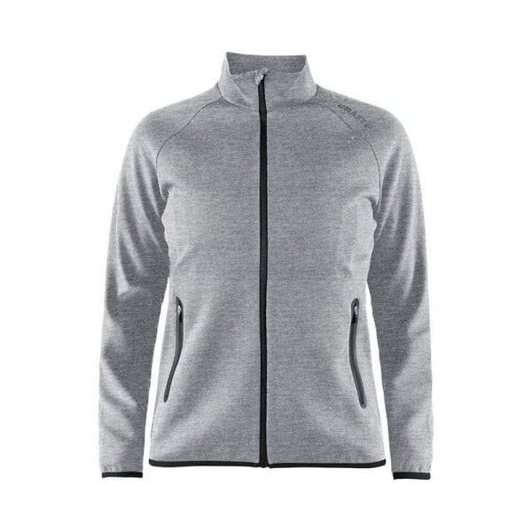 CRAFT Emotion Full Zip Jacket kvindemodel, lækker kvalitets jakke - god som overgangsjakke. Lynlås lommer og lang lynlås på maven. Flexibel og comfortable at have på. Lys grå model