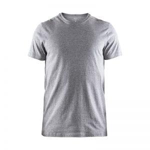 CRAFT Deft 2.0 Tee, sports/ løbe t-shirt i lækker kvalitet. Ensfarvet herremodel i lys grå