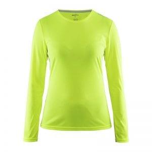 CRAFT Mind Tee langærmet tshirt i flexibel materiale der egner sig perfekt til en aktiv session. Lime grøn model