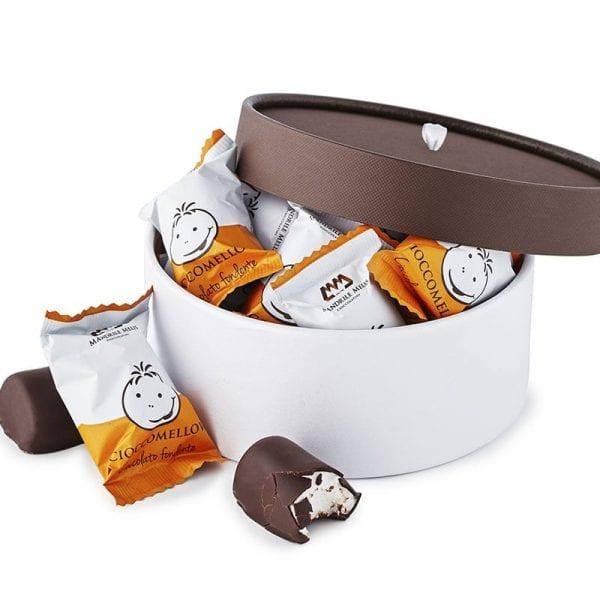 PR chokolade æske, med fyldt mørk gourmet chokolade