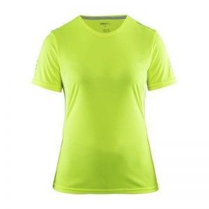 CRAFT Mind Tee kortærmet tshirt i flexibel materiale der egner sig perfekt til en aktiv session. Lime grøn model
