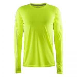 CRAFT Mind Tee, langærmet t-shirt i lækker kvalitet. Passer perfekt til sports tossen eller løberen. Lime grøn model