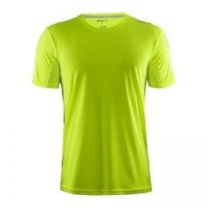 CRAFT Mind Tee, kortærmet t-shirt i lækker kvalitet. Passer perfekt til sports tossen eller løberen. Lime grøn model