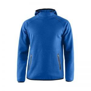 CRAFT Emotion Hoodie Sweatshirt, lækker sweat med lynlåsdetalje foran på lommerne og hætte. Herremodel kongeblå