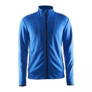 CRAFT Løbejakke i lækker kvalitet med tilpassede detaljer for entuisiasten, ses her i farven blå
