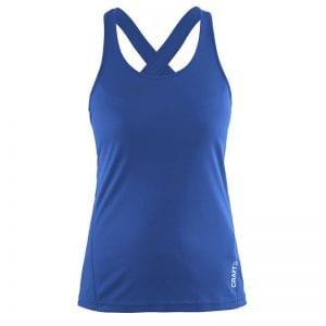 CRAFT Mind Singlet top med krydset ryg der egner sig perfekt til en omgang træning. Blå model