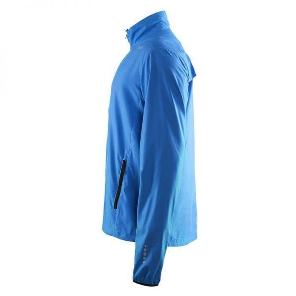 CRAFT Mind Block Jacket - løbejakke i let og luftig kvalitet. Blå model. Fra siden