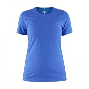 CRAFT Deft 2.0 Tee, sports/ løbe t-shirt i lækker kvalitet. Ensfarvet kvindemodel i kongeblå