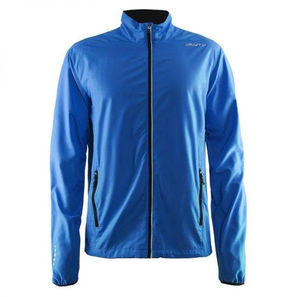 CRAFT Mind Block Jacket - løbejakke i let og luftig kvalitet. Blå model.