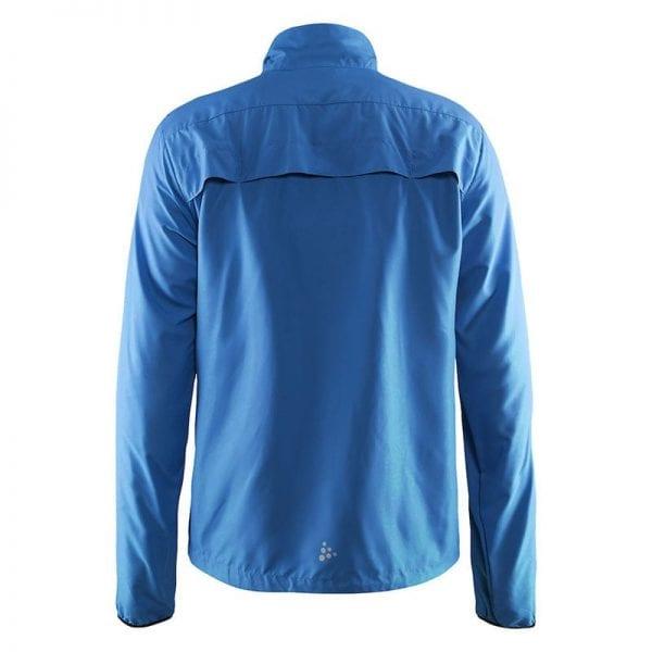 CRAFT Mind Block Jacket - løbejakke i let og luftig kvalitet. Blå model. Bagfra