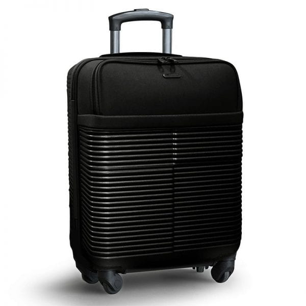 Business Kabinetrolley med laptop lomme, TSA lås og udtag til powerbank 40x20x55cm i sort