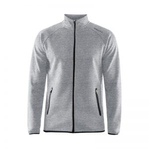 CRAFT Emotion Full Zip Jacket, lækker kvalitets jakke - god som overgangsjakke. Lynlås lommer og lang lynlås på maven. Flexibel og comfortable at have på. Lys model
