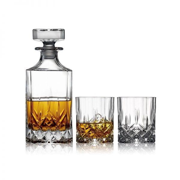 Lyngby Glas Whiskysæt 3 dele Lounge