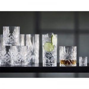 Lyngby Glas Glassæt 12 dele Melodia, indeholder 4stk highball 36cl, 4stk whiskyglas 31cl, 4stk shotsglas 5cl