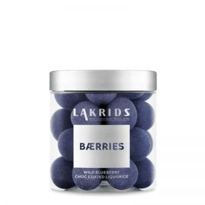 Small 150g BÆRRIES by Johan Bülow Wild Blueberry choc coated Liquorice