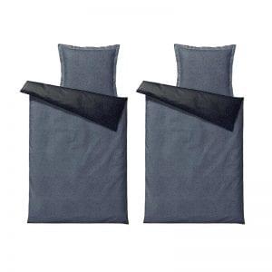 Södahl Harmony Renforcévævet 100% bomuld sengetøj indigo 140x220cm